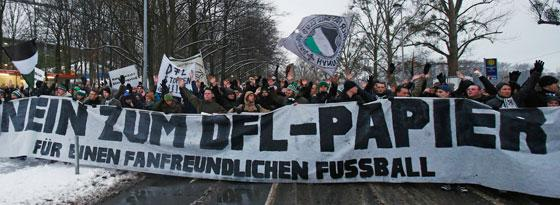 Fanprotest in Hannover