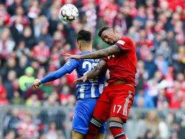 Davie Selke (li.), Jerome Boateng