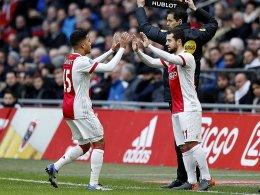 Justin Kluivert (links) und Amin Younes