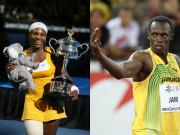 Serena Williams und Usain Bolt