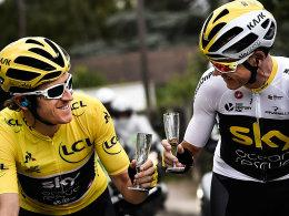 Geraint Thomas und Chris Froome