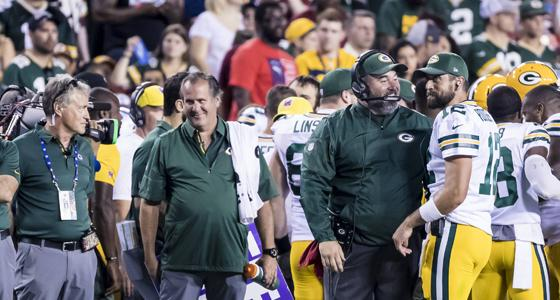 Mike McCarthy und Aaron Rodgers