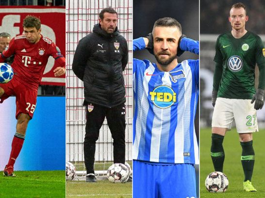 Thomas Müller, Markus Weinzierl, Vedad Ibisevic, Maximilian Arnold (v.l.)