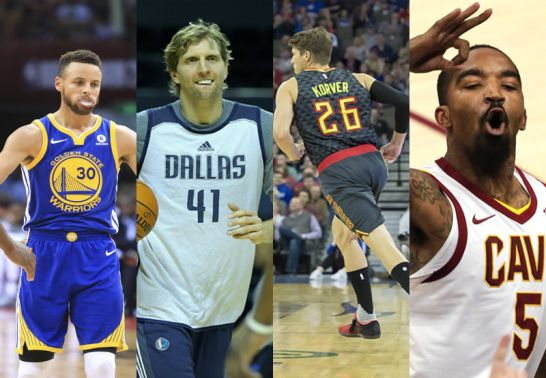 Curry, Nowitzki, Korver und Smith (v.l.)