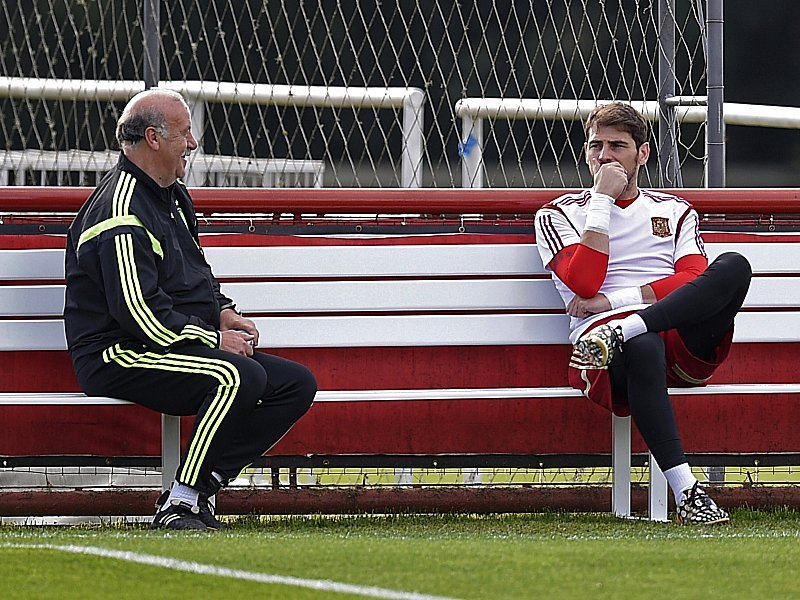 Vicente del Bosque und Iker Casillas