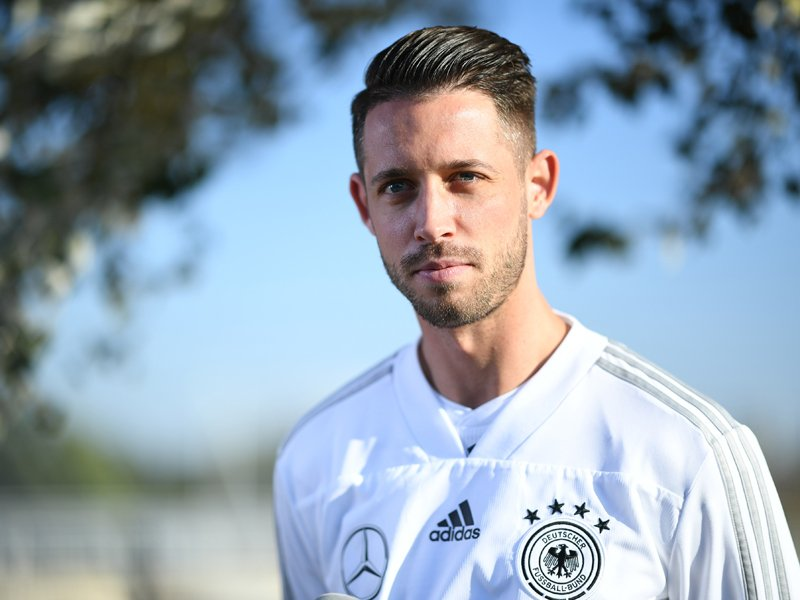 Mark Uth am Donnerstag in Berlin