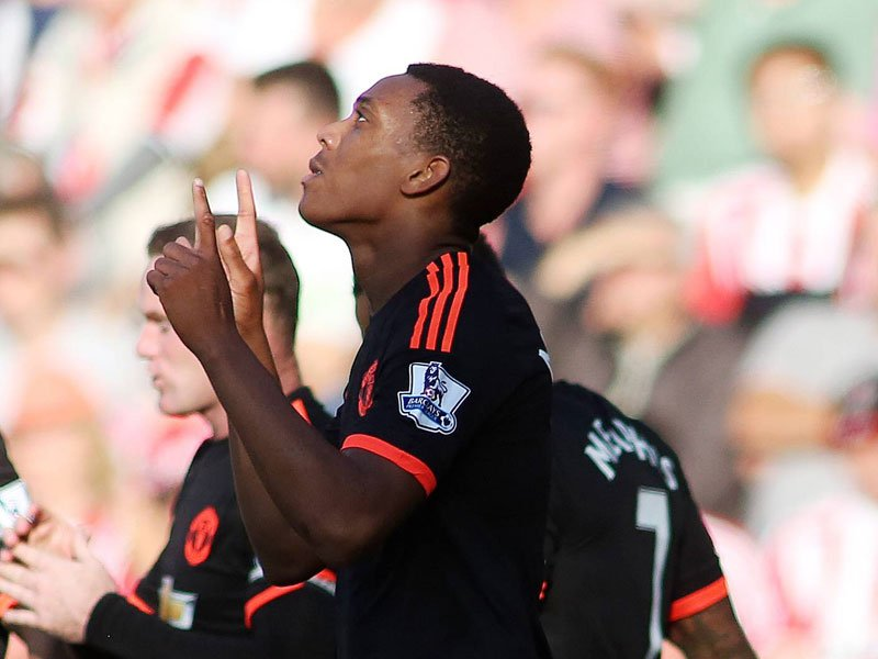 Anthony Martial jubelt in Southampton